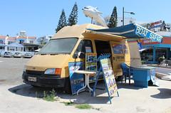 Transit Boat Safari. (steve vallance coach and bus) Tags: bap562 fordtransit ayianapa boatsafari cyprus