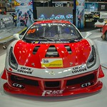 Singha Racing Ferrari luxury sports car at the 35th Thailand International Motor Expo at IMPACT Challenger Hall in Muang Thong Thani, Nonthaburi thumbnail