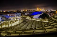 Las Setas De Sevilla (LauraStudarus) Tags: sevilla setas spain nightphotography landmark seville cityscape