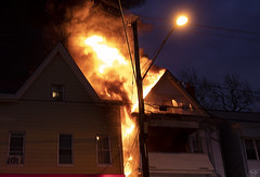 Paterson house fire (Jersey JJ) Tags: house structure fire burning paterson nj new jersey after dark night time