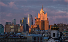 Russia. Moscow. Architectural palette. (Yuri Degtyarev) Tags: russia city moscow architectural palette moscou moscowcity moskau seven sisters skyscrapers ministry foreign affairs россия москва палитра архитектры москвасити мид сталинская высотка центр небоскребы skyline