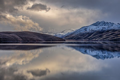 Topaz Lake Reflection February 2, 2019 (Jeff Sullivan (www.JeffSullivanPhotography.com)) Tags: topaz lake winter gardnerville douglascounty nevada monocounty california usa eastern sierra landscape nature travel photography canon eos 5d mark iv photo copyright 2019 jeff sullivan february
