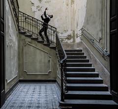 Tu es infiniment nombreux (Stevenson Production) Tags: urbex urbanexploration urbandecay explorationurbaine explorer urbanexplorer architecture architect color gay saez man stair escalier