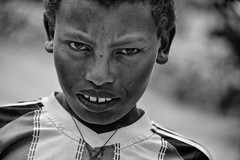 Adigrat Street (Rod Waddington) Tags: africa african afrique afrika äthiopien adigrat ethiopia ethiopian ethnic etiopia ethnicity ethiopie etiopian tigray streetphotography street portrait people culture cultural child boy blackandwhite monochrome