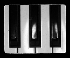 Three Keys (Alex . Wendes) Tags: bw blackandwhite digitalbw d7000 nikond7000 tamron90mm tamron90mmmacro ringflash keys piano