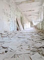 pripyat - ukraine (Greenes Music) Tags: hallway urbex paperscape dusty chernobyl school pages sneeze achoo