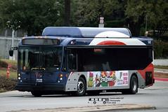 948 101 (2) PRIMO-Leon Valley (transit addict 327) Tags: viametropolitantransit bus primo busrapidtransit brt nabi northamericanbusindustries 40lfw cng compressednaturalgas restyle 2018 nikon d5300 55300mmlens medicalcentertransitcenter sanantonio texas