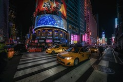Red Dead (karinavera) Tags: city night photography urban ilcea7m2 sunset timessquare street manhattan nyc newyork