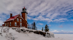Eagle Harbor Lighthouse 2.0 (Paul Domsten) Tags: eagleharborlighthouse michigan pentax lakesuperior ice winter lighthouse snow clouds