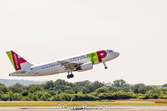 TAP Portugal CS-TTS A320-100 (IMG_0425) (Cameron Burns) Tags: tapportugal tap portugal tp cstts guilherminasuggia airbus airbus321 airbusa321200 a321 a321200 lis lisbon white green red manchester airport manchesterairport man egcc ringway viewing park airfield aviation aerospace airliner aeroplane aircraft airplane plane canoneos550d canoneos eos550d canon550d canon eos 550d uk united kingdom unitedkingdom gb greatbritain great britain europe action