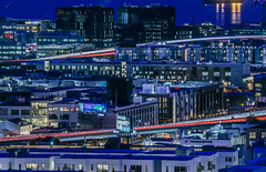 blue hour over soma (pbo31) Tags: bayarea california nikon d810 color december 2018 boury pbo31 sanfrancisco city urban civiccenter foxplaza patrix siemer over night dark black lightstream traffic roadway 101 bluehour soma rooftops