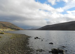 Loch a'Chriosg, Highlands of Scotland, Nov 2018 (allanmaciver) Tags: loch achriosg highlands scotland water grey clouds weather november stones low scenery achnasheen allanmaciver