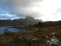 Slioch (3,215ft), Loch Maree, Highlands of Scotland, November 2018 (allanmaciver) Tags: loch maree slioch wet boggy muddy low view dark clouds weather changes temperature bleak scotland highlands blue light majestic mountain munro allanmaciver