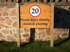 Please Drive Slowly, Children Playing, Archerfield (Dugswell2) Tags: pleasedriveslowly childrenplaying archerfield direlton northberwick