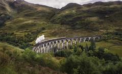 Poudlard Express (JardinsLeeds) Tags: harrypotter poudlard express écosse paysageécosse scotland scottishlandscape paysage landscape train pont bridge nikond800e