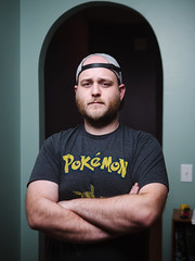 Collin (BurlapZack) Tags: olympusomdem5markii panasonicleicadgsummilux25mmf14 vscofilm pack01 godoxad400prowitstro strobe flash test portrait bokeh dof microfourthirds house home externalflash friends friendship addisontx dallastx pokemon pokémon nintendo tshirt armscrossed serious superserious softbox beautydish portraiture homestudio