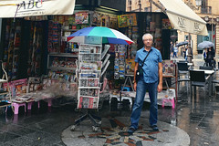 Pedro in Sevilla, Spain (szeke) Tags: newsstand seville people pedro