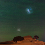Outback Airglow and the Magellanic Clouds - The Pinnacles Desert, Western Australia thumbnail