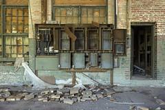 leftover panels. (stevenbley) Tags: abandoned urbanexploration urbanexploring urbex decay virginia va rust guerillahistorian sneak breeze grime decayed bokeh peelingpaint factory chemical dye industrial asbestos chemicals