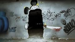 Poor Mickey (ostplp) Tags: chimiques produits patrimoine perdu passé friche forgotten factory urbex usine oublié ruine oubli exploration abandonné ancien abandon industriel architecture ciel bâtiment radiateurs lignes mickey