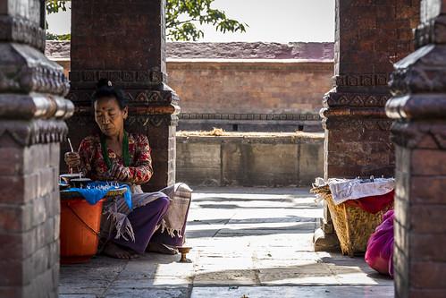 Street vendor - Swayambunath Temple - Katmandou