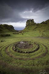 Fairy Circle ([CamCam]) Tags: fairy glen isle sky scotland ring tower castle stones stone circle magic green camcam