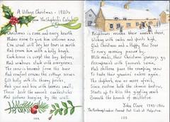 Village Christmas (Hornbeam Arts) Tags: poem holly mistletoe box yew watercolour clare