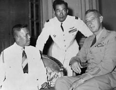 Saigon 1953 (lamduong882) Tags: asia china eguyenvantam few group groupofpeople hochiminhcity indochina markclark mguyenvanhinh military militaryofficer militarypersonnel people prominentpersons saigon smallgroupofpeople southeastasia three threepeople vietnam