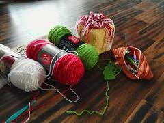 The Twinkie Chan Gingerbread House crochet tissue box cozy as of this morning (crochetbug13) Tags: crochetcozy crochetswirls crocheted crocheting crochet tissuebox crochettree