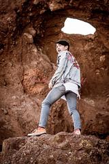 Makoto Murakami (Paulann_Egelhoff) Tags: phoenix az arizona fashion photoshoot outdoors photography art design headshots portraits redrocks papagopark graffiti holeintherock japanese japan rb music mixing singer songwriter recording artist blackhair bluejean desert paulann paulannegelhoff instagram facebook flickr
