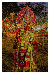 Kali / Hindu goddess (Rajavelu1) Tags: kali hindugoddess culturalprogramme art creative lowlightphotography handheld availablelight dslr india tamilnadu artdigital