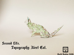 Second Life Topography Alert Cat - Barth Dunkan. (Magic Fingaz) Tags: barthdunkancatchatgatokittenorigamiorigamicatgatto kedi kočka kot kucing mačka paperfolding γάτα кіт мачка ネコ猫