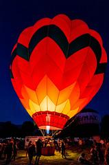 hot air balloon - Ogden Valley Balloon Festival - 8-18-18  01 (Tucapel) Tags: hotairballoon balloon night glow ogdenvalley festival utah