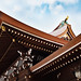 Roofs and sky at the Meiji Jingu