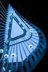 black and blue (hjuengst) Tags: black schwarz blue blau treppenhaus wendeltreppe staircase spiralstaircase munich münchen 25hourshotel nenimunich nenimünchen bayern bavaria