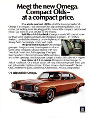 Oldsmobile Omega (1973) (baffalie) Tags: auto voiture car coche pub publicité ads old