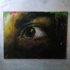 eye oil painting (brittanyzamo) Tags: oilpainting oil painting eye dilated pupils lowbrow impasto acrylic mixedmedia mixed media weird impressionism surrealism realism abstract expressionism
