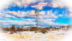 Merry Christmas from Arizona to all of my flickr friends :) (concho cowboy) Tags: snakeranch arizona windmill snow christmas concho