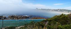 Rock pool in the mist (LSydney) Tags: panorama freshwater pool rockpool beach fog seafog mist