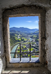 Old Window (noname_clark) Tags: vacation europe austria hohenwerfencastle castle city window salzachriver river water werfen