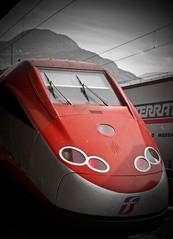 Frecciarossa (@WineAlchemy1) Tags: train freccia rossa speed transport tgv highspeedtrain trenitalia railway station red etr500 bolzano bozen altoadige südtirol italy southtyrol