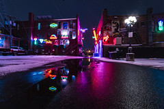 Neon Alley (Tom Herlyck) Tags: amazing beautiful colorado frozen history ice light movies night outside pueblocolorado red town usa vintage water alley blue camera neon