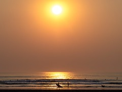 Endless Fire. (kate beale) Tags: norcal gold sunsetinthesunset oceanbeach obsf surfer sunset waves surfing surf surfphotography sanfrancisco smoke californiawildfires pacificocean california g1rlwithacurl