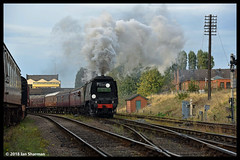 No 34092 City of Wells 7th Oct 2018 Great Central Railway Steam Gala (Ian Sharman 1963) Tags: no 34092 city wells 7th oct 2018 great central railway steam gala class wc bb west country and battle of britian 462 station engine rail railways train trains loco locomotive passenger heritage line gcr leicester north loughborough