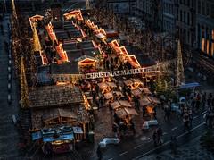 Christmast market in Copenhagen (ibjfoto) Tags: bluehour blåtime by christmasmarket city cityscape copenhagen danmark denmark højbroplads ibjensen ibjfoto julemarked københavn urban urbanlandscapes aften evening