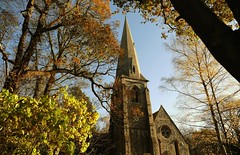 Autumn (Westhamwolf) Tags: autumn church epping forest holy innocents london leaves spire essex