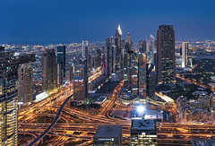 Dubai Skyline (Hany Mahmoud) Tags: dubai dubaiskyline luxury uae nikon burjkhalifa towers cityscape dusk city travel