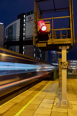 Dynamic lines: High Speed Train leaving Cardiff Central station, Wales, UK (Dai Lygad) Tags: greatwesternrailway moving trains railways railroads movement station cardiffcentral redsignal urban city longexposure highspeedtrain hst wales uk greatbritain december 2018 cardiffcentraltolondonpaddington jeremysegrott flickr stock photos pictures photographs images canon 80d eos motionblur nighttime atnight intercity publictransport gwr geotagged caerdydd cymru trenau photography viewof departure departing leaving platform freetouse forwebsite forwebpage forblog forpowerpoint forpresentation ccsearch creativecommons attributionlicense attributionlicence