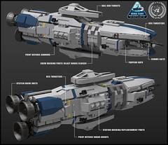 UNN Baikal Class Heavy Destroyer - Tech Readout (Rphilo004) Tags: lego biakal class heavy destroyer unn expanse spaceship spacecraft space ship