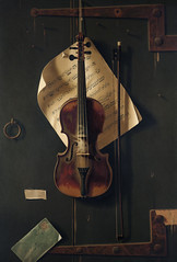 Still Life with Violin by William Harnett (1848-1892). Original from Library of Congress. Digitally enhanced by rawpixel. (Free Public Domain Illustrations by rawpixel) Tags: antique art banjo bow brown chromolithograph classic drawings east harnett historical illustrated illustration instrument locimage music musicnotes musical new newyork notes object old painting sketch states stilllife stilllifewithviolin string suspension tune united unknownauthor view vintage viola violin west william williamharnett